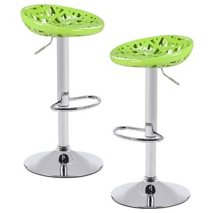 Chmielewski Adjustable Height Swivel Bar Stool (Set of 2) by Brayden Studio