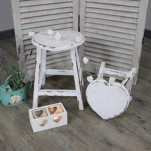 Pamphile Heart 2 Piece Stool Set By Lily Manor
