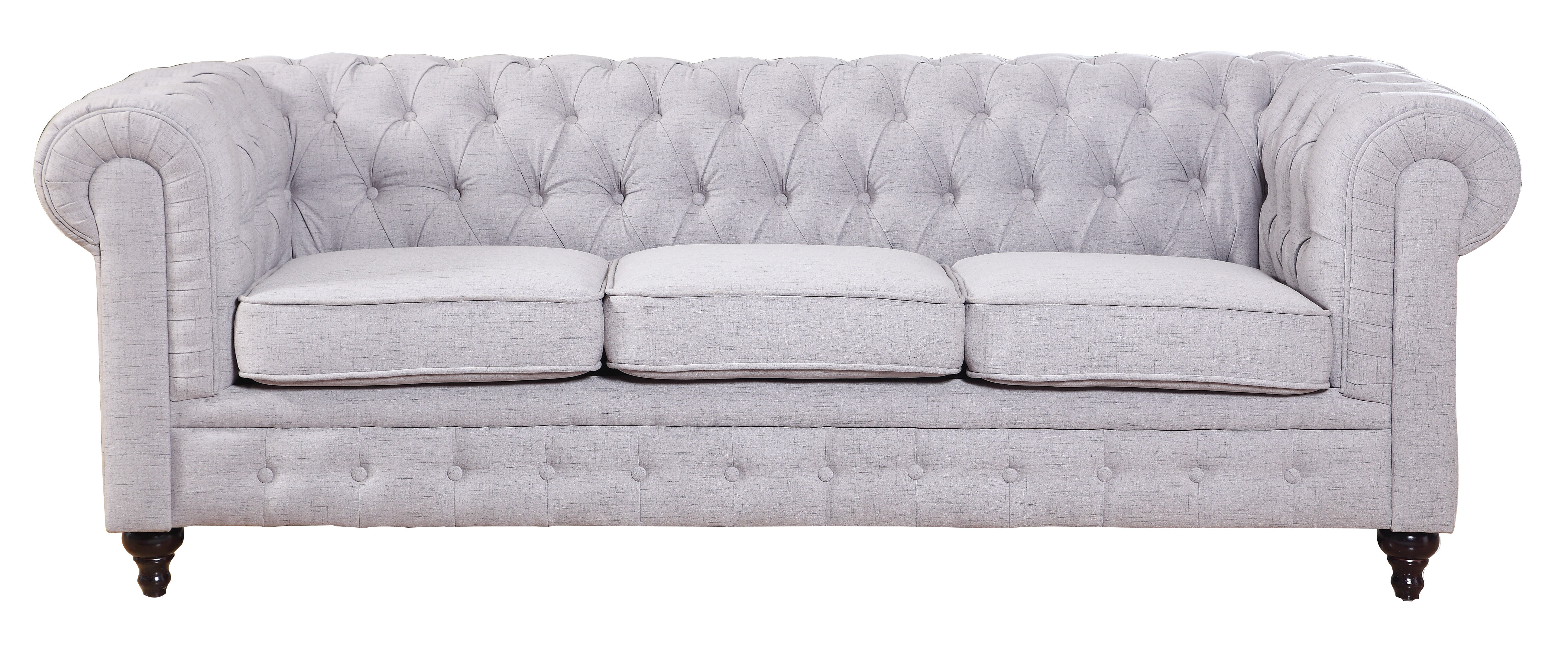 Willa Arlo Interiors Elina Clic Tufted Linen Fabric Chesterfield Sofa Reviews Wayfair