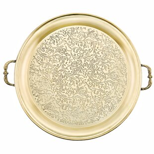 Round Etched Steel Serving Tray