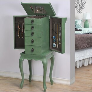 Tatyana Free Standing Jewelry Armoire with Mirror by August Grove