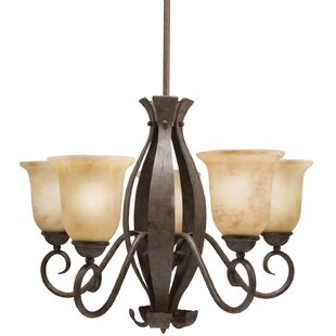 Crotts 5-Light Shaded Chandelier by Fleur De Lis Living