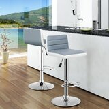 Boru Swivel Adjustable Height Bar Stool (Set of 2) by Latitude Run®