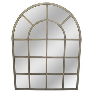 17 Stories Arch/Crowned top Gold Wall Mirror