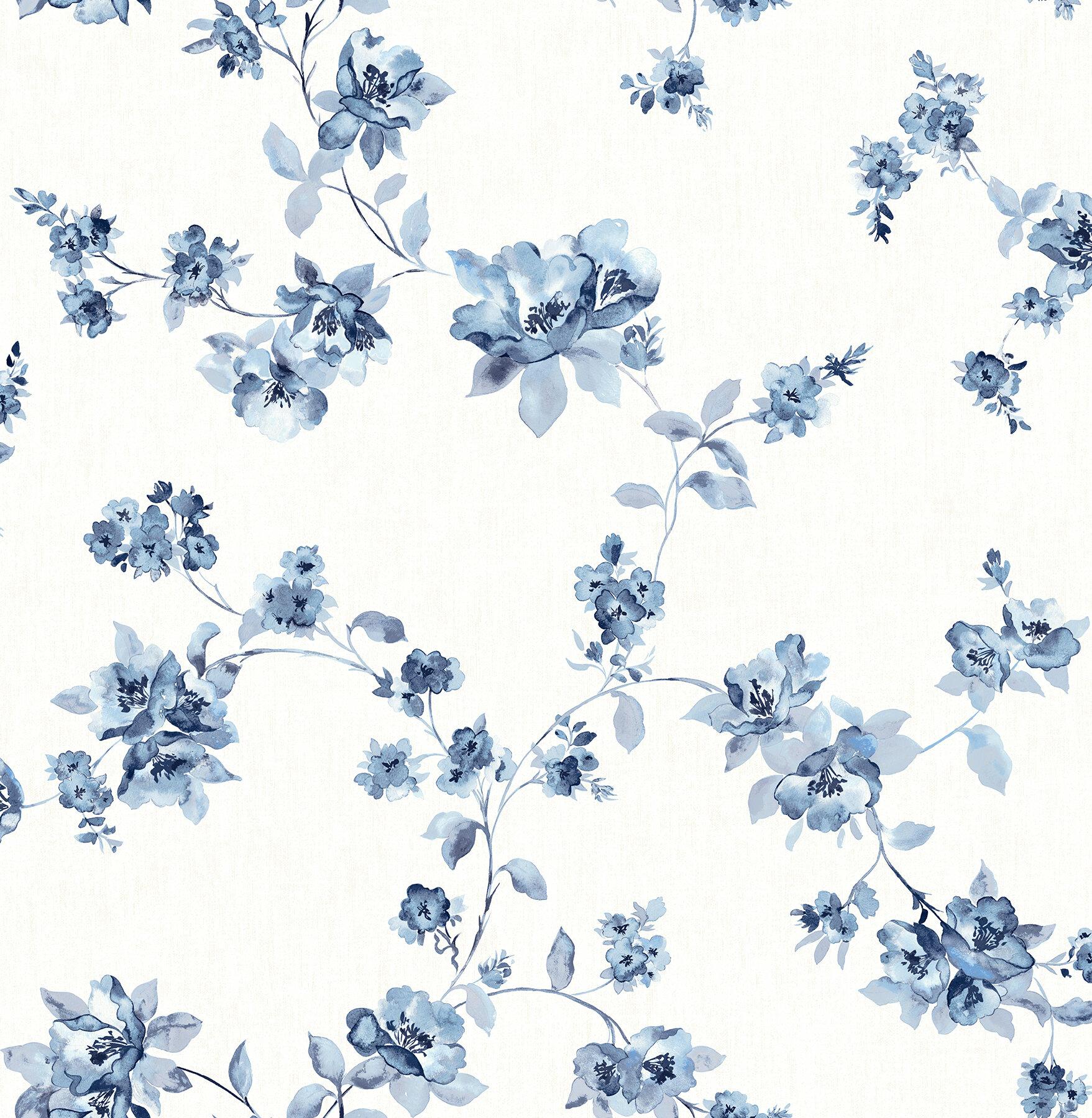 House Of Hampton Granillo Floral 33 L X 20 5 W Wallpaper Roll