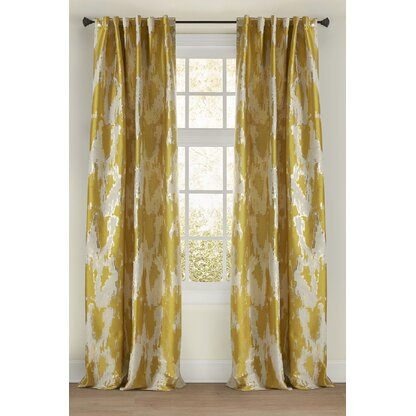 Luxury Yellow Gold Curtains Drapes Perigold