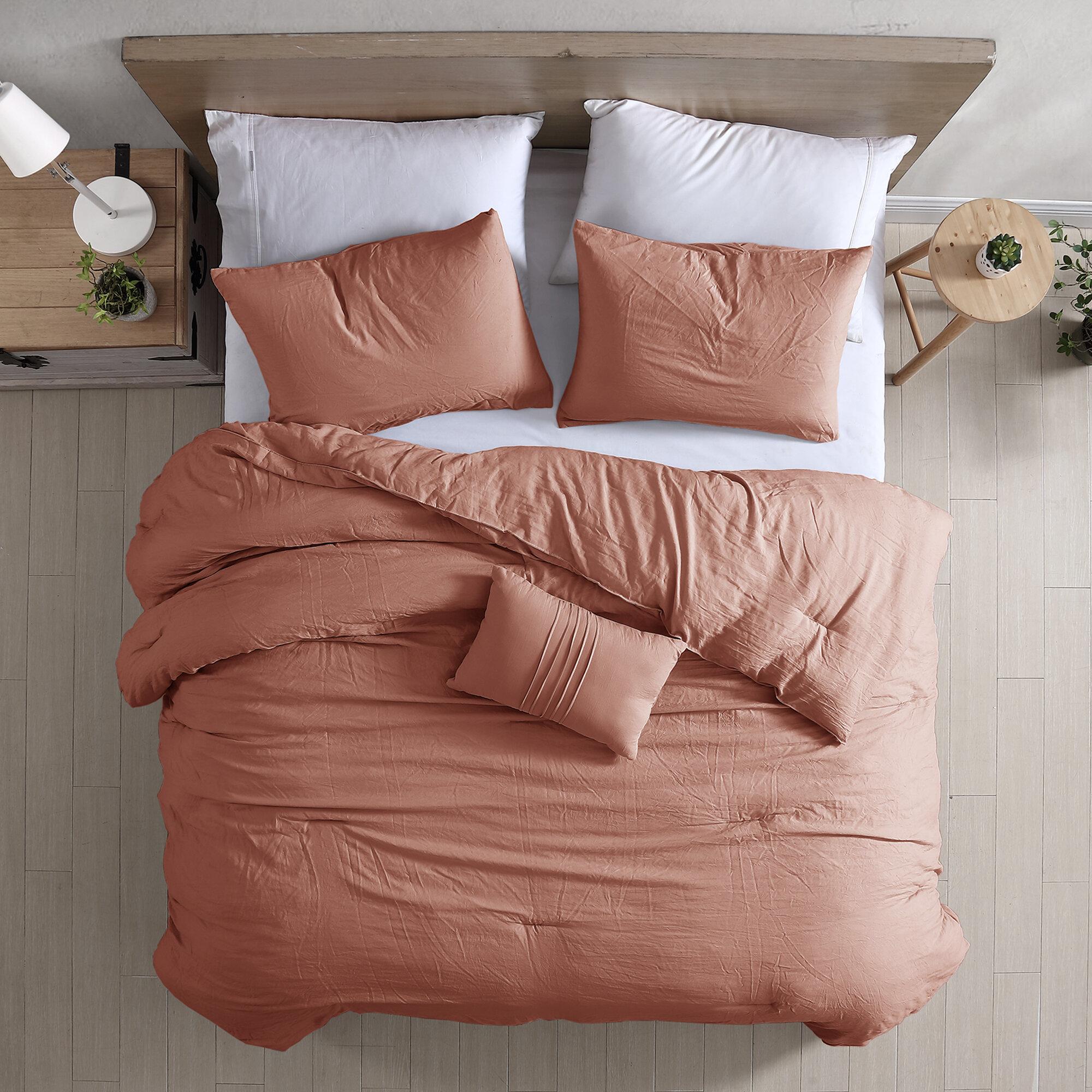 Allure Modern Threads 4 Piece Garment Washed Comforter Set Beck Reviews Wayfair