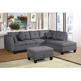 Dhanvin 105.1'' Wide Right Hand Facing Sofa & Chaise with Ottoman by Latitude Run®