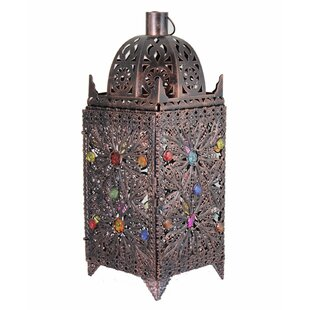 World Menagerie Sophisticated Designed Antique Metal Lantern