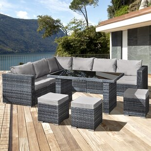 Lizzo 9 Seater Rattan Corner Sofa Set By Sol 72 Outdoor