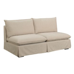 Benavides Armless StandardLoveseat by Alcott Hill