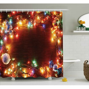 Low priced Christmas Fairy Lights Image Shower Curtain By The Holiday Aisle