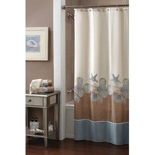 Top Reviews Shells Ashore Shower Curtain ByCroscill Home Fashions