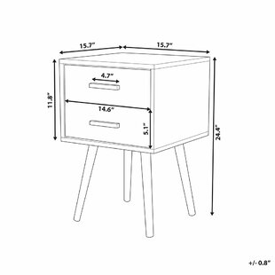 Kahn 2 Drawer Nightstand by George Oliver