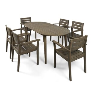 Longshore Tides Macaulay Outdoor 7 Piece Dining Set