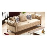 Ferranti Chenille 94 Rolled Arms Sofa by Canora Grey