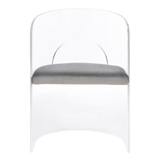 Slaugh Acrylic Accent Upholstered Side Chair