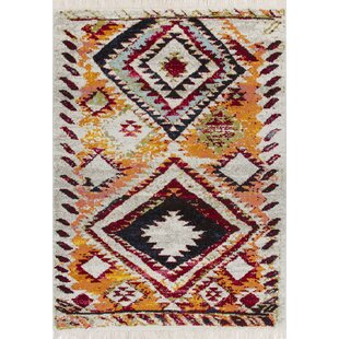 Marrakech Red/Yellow/Black Rug by Longweave