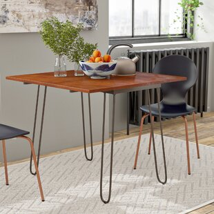 Parikh Drop Leaf Dining Table with Hairpin Legs by Wrought Studio