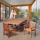 Kennedi International Home Outdoor 9 Piece Dining Set