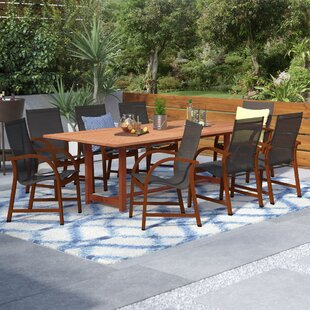 Brayden Studio Imler 9 Piece Dining Set