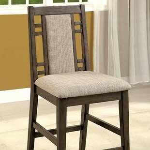 Tomaso Counter Height Upholstered Dining Chair (Set of 2) World Menagerie