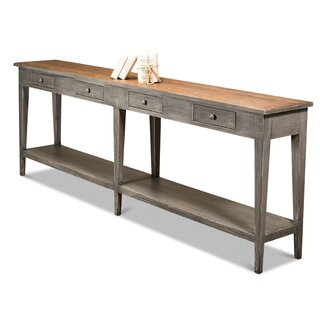 "Astrid 98"" Solid Wood Console Table by Rosalind Wheeler SKU:DC308857 Buy"