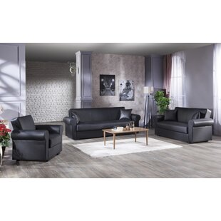 Compare prices Floris Relax 3 Piece Living Room Set by Decor+ Reviews (2019) & Buyer's Guide