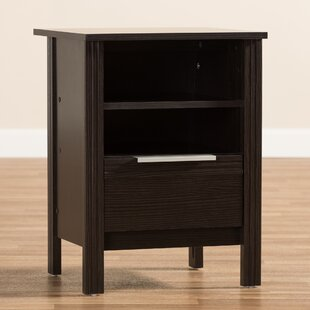 Top Reviews Homeland 1 Drawer Nightstand by Ebern Designs