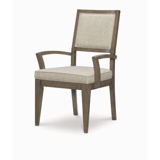 Whicker Upholstered Arm Dining Chair in Brown (Set of 2) by Ophelia & Co. SKU:DC546975 Price Compare