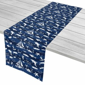 Nautical Blue Sea Mix Table Runner