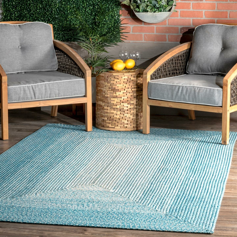 Mercury Row Julianna Braided Blue Indoor Outdoor Use Area Rug Reviews Wayfair