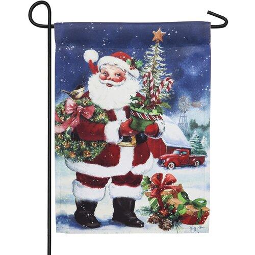 3 Pcs Christmas Smile Santa Claus Gift Double Sided Winter Garden 12x18/'/' Flag