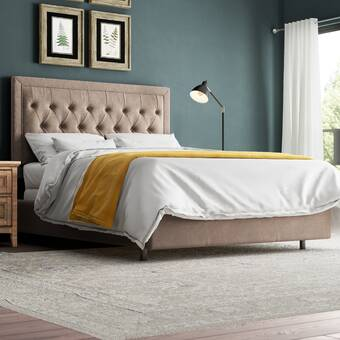 Brassex Jia Upholstered Standard Bed Reviews Wayfair