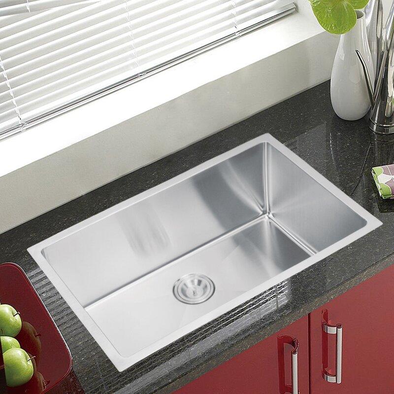 Single Bowl Kitchen Sinks Dcor design brier single bowl kitchen sink reviews wayfair brier single bowl kitchen sink workwithnaturefo