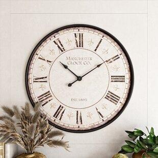 Large Fleur De Lis Wall Clock Wayfair