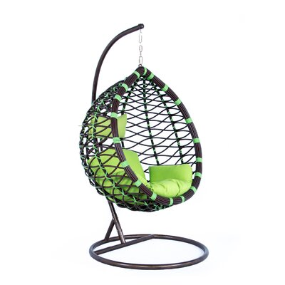 Schwartz Wicker Hanging Egg Swing Chair With Stand by Bayou Breeze Today Sale Only