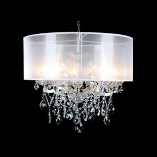 House of Hampton Eisley Champagne Crystal 6-Light Chandelier