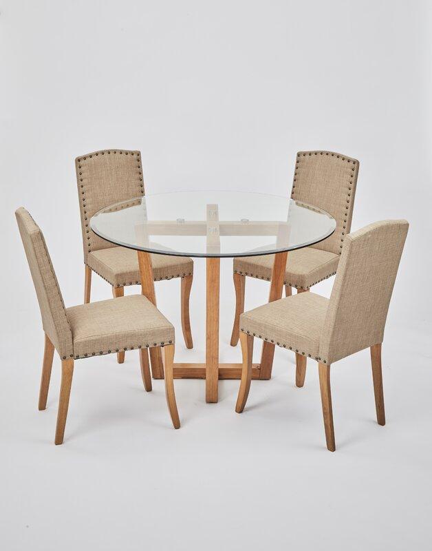 Brayden Studio Essgruppe Hartwell mit 4 Stühlen