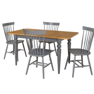Laurier 5 Piece Solid Wood Dining Set by Gracie Oaks