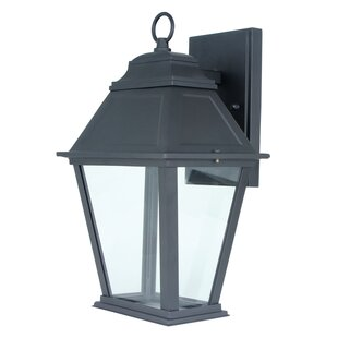 Integrated 1-Light Outdoor Wall Lantern