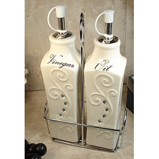 3 Piece Oil and Vinegar Cruet Set