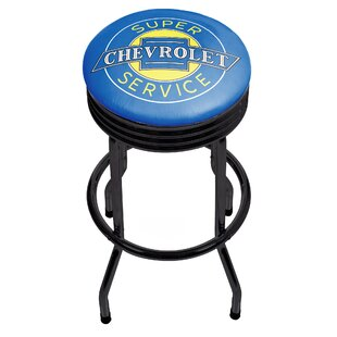 Chevy Super Service Ribbed 29 Swivel Bar Stool