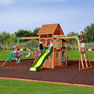 Saratoga Swing Set. By Backyard Discovery