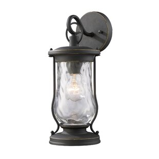 Coupon Scarborough 1-Light Outdoor Wall Lantern By Breakwater Bay