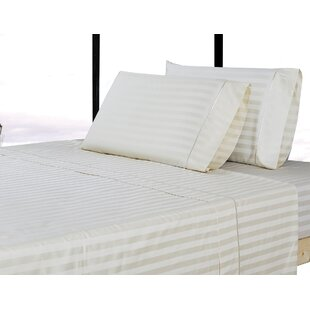 Affluence Home Fashions 500 Thread Count 100% Cotton Striped Sheet Set