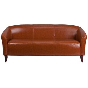 Orange Leather Sofas You\'ll Love   Wayfair
