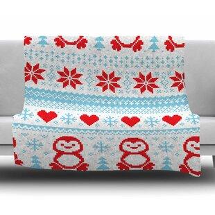 Pixel Penguin Holiday Fleece Blanket 39add2287