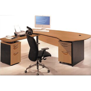 Executive Management 5 Piece L-Shaped Desk Office Suite by OfisELITE No Copoun
