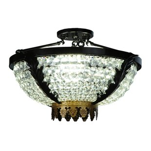 Chrisanne Crystal 3-Light Semi Flush Mount by Meyda Tiffany